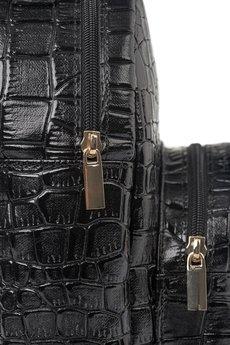 GAWOR - Czarny mini plecak krokodyl
