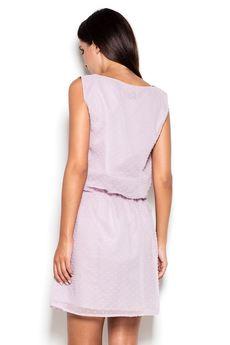 KATRUS - Sukienka K154 Fiolet