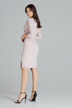 LENITIF - Sukienka L086 Róż