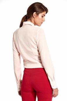 Nife - NIFE Bluzka koszulowa z kokardkami róż (B96)