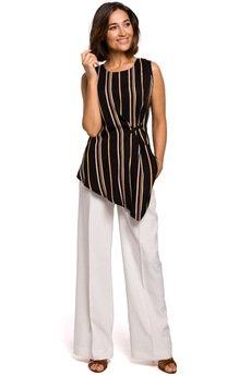 Style - Bluzka bez rękawów z asymetrycznym dołem - S205