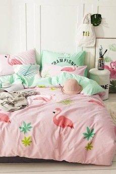 xxx-Magic Home Makers - Flamingo Pościel bawełniana