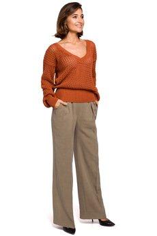 Style - Sweter w z dużymi oczkami - S219