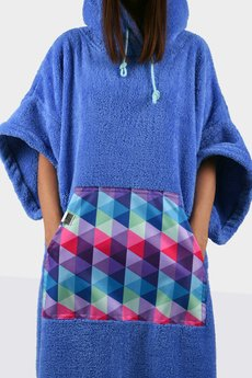 Surfponcho HugMe - HUG SIS niebieski_trójkąt