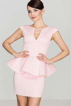 LENITIF - Sukienka K273 Róż