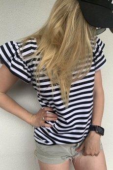 You. - Melisa V-neck Stripes