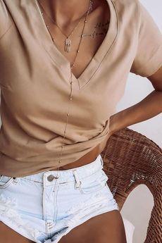 Ooh la la - T-shirt w serek