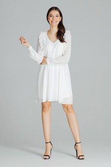 LENITIF - Sukienka L083 Ecru