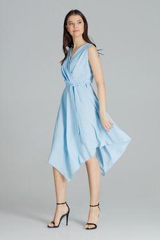 LENITIF - Sukienka L080 Niebieski