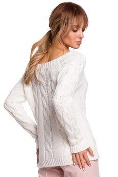 MOE - Sweter z warkoczowym splotem - M511