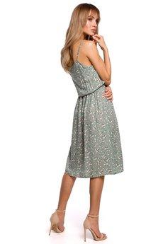 MOE - Sukienka na cienkich ramiączkach - M518