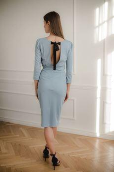 LENITIF - Sukienka L079 Niebieski