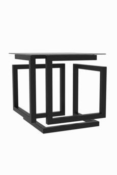Cat Me Up - ILLUZ - Czarny stolik kawowy ze szklanym blatem