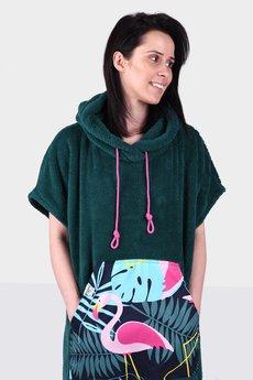 Surfponcho HugMe - Hug SIS zielony_flaming