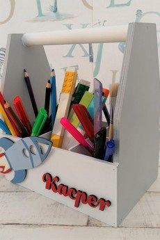 manufaktura - Organizer na biurko dla dziecka Rakieta
