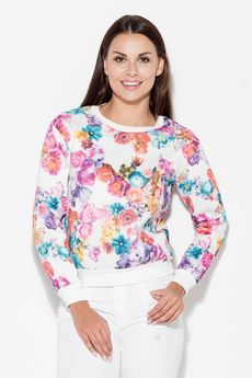 KATRUS - Bluza K282 Kwiaty