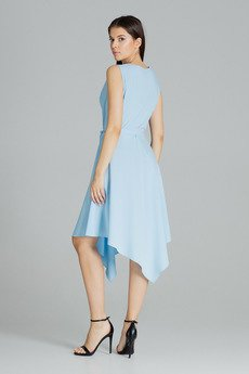 LENITIF - Sukienka080 Niebieski