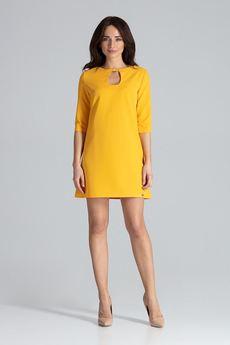 LENITIF - Sukienka L001 Żółty