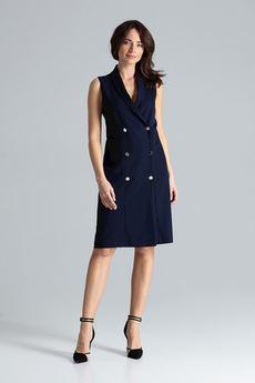 LENITIF - Sukienka L044 Granat