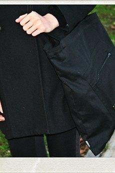 Button - Eco bag button torba czarna XXL