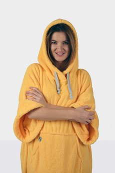 Surfponcho HugMe - Hug SIS żółty_jednolity