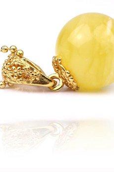 Brazi Druse Jewelry - Zestaw Bursztyn Królewski złoto