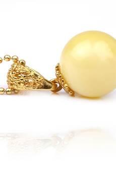 Brazi Druse Jewelry - Zestaw Bursztyn Królewski Mleczny złoto