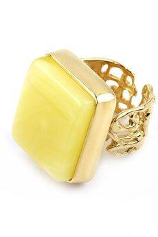 Brazi Druse Jewelry - InspiRING Bursztyn Królewski Mleczny