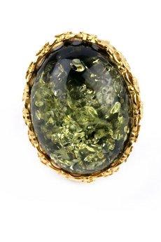 Brazi Druse Jewelry - InspiRING Bursztyn Królewski Zielony