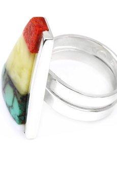 Brazi Druse Jewelry - InspiRING Mix srebro rozmiar 21 - 26