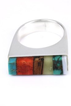 Brazi Druse Jewelry - InspiRING Mix srebro rozmiar 16