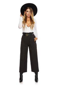 Ooh la la - Eleganckie spodnie kuloty z wysokim stanem