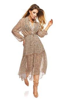 Ooh la la - Szyfonowa sukienka MARGARET wzwierzęcy wzór
