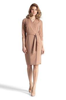 FIGL - Sukienka654 Brąz