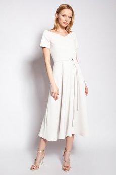 Lanti - Trapezowa sukienka - SUK181 ecru
