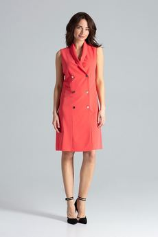 LENITIF - Sukienka L044 Koral