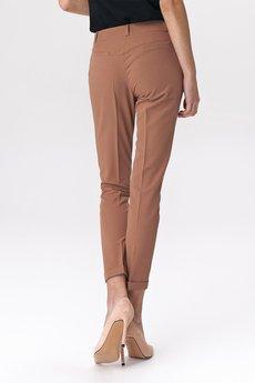 Nife - NIFE Karmelowe spodnie zapinane na guziki (SD37)