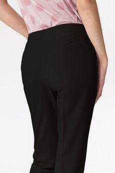 Nife - NIFE Czarne klasyczne spodnie damskie (SD39)