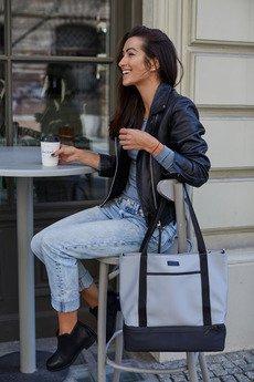 FIKSOO - Torba na ramię shopper VOYAGE - szara
