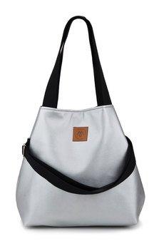 Militu - Duża torba szoperka Mili Duo MD2 - srebrna