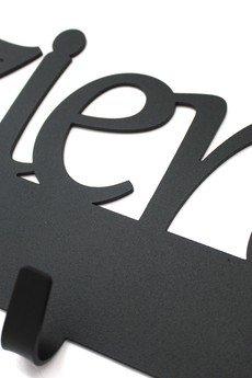Art-Steel - Dzień dobry 60cm wieszak na ubrania czarny