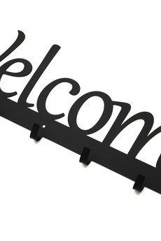 Art-Steel - Welcome 60cm wieszak napis czarny