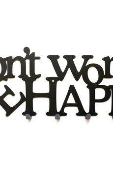 Art-Steel - Don't worry be happy wieszak na ubrania dekoracja