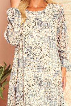 numoco - 319-2 HANNAH szyfonowa sukienka z dekoltem plecach