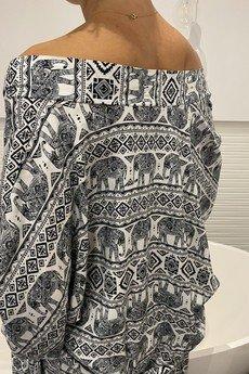 HisOutfit - Szlafrok kimono z wiskozy w piękny orientalny wzór