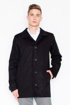 Visent - Płaszcz V028 Czarny