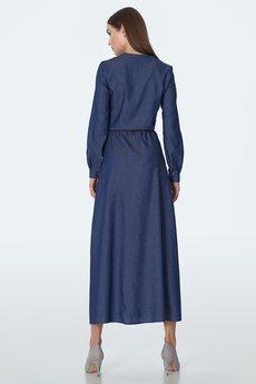 Nife - NIFE Jeansowa sukienka maxi (S156)