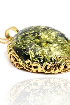 Brazi Druse Jewelry - Colare Bursztyn Królewski Zielony