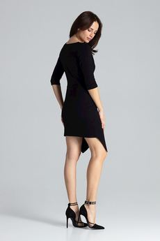 LENITIF - Sukienka L012 Czarny