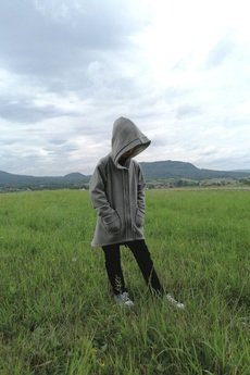 M-art-a-baby - Bluza z kapturem ENZO gray